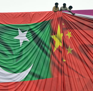 Flags of Pakistan and China