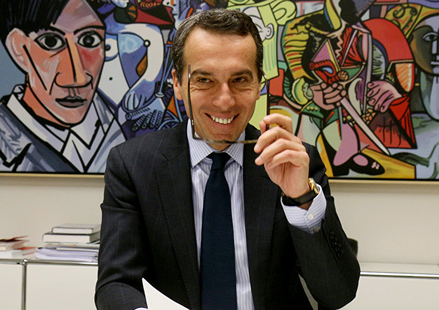 CEO of OeBB holding, the Austrian railway company, Christian Kern speaks during an interview with The Associated Press in Vienna. (File)