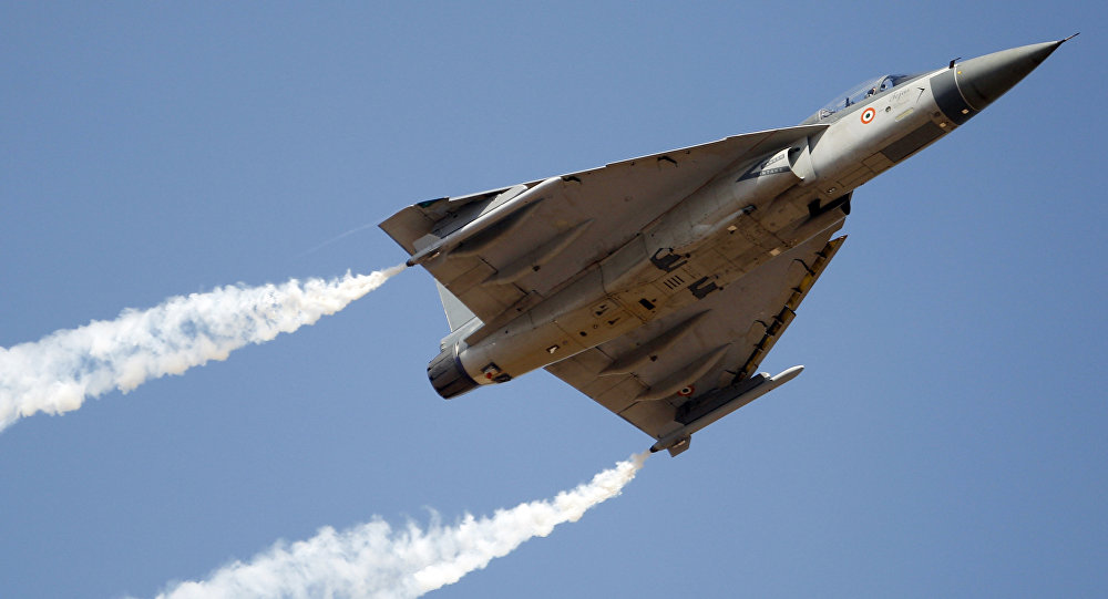 Tejas, an Indian Air Force light combat aircraft (File)