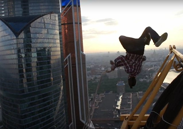 Spiderman swing in real life