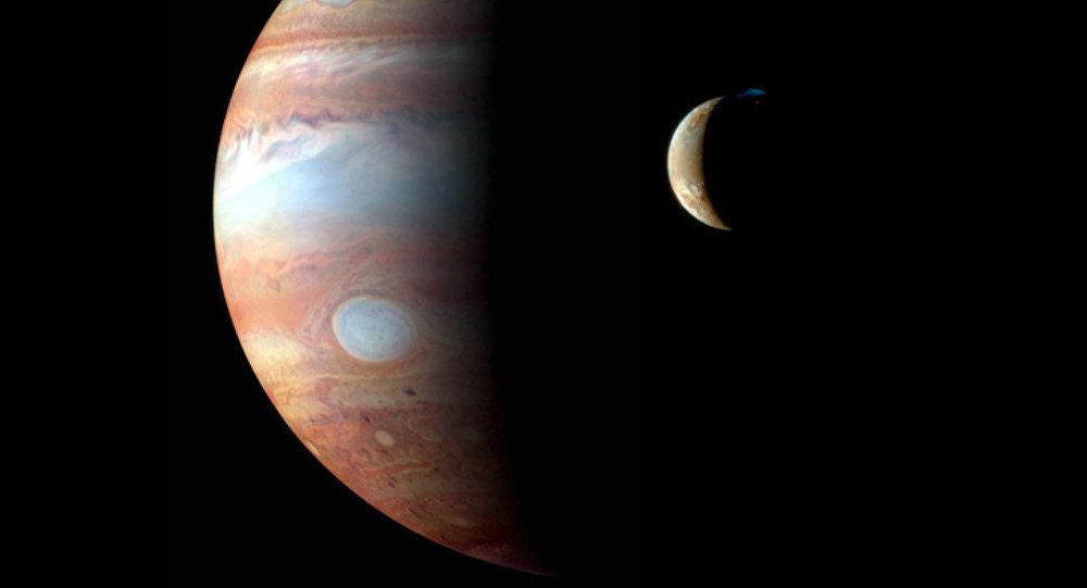 Jupiter and its moon