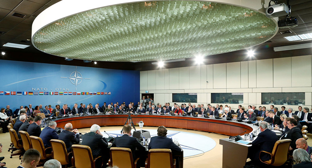NATO foreign ministers attend a meeting at the Alliance headquarters in Brussels, Belgium May 19, 2016.