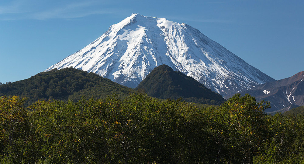 The Koryaksky volcano in the Volcanoes of Kamchatka nature park, the Nalychevo nature park cluster.