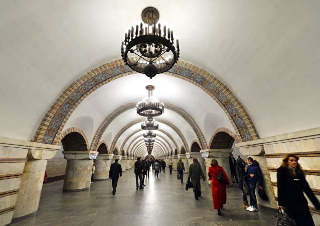Corridor of the Gold Gate subway station, Kiev