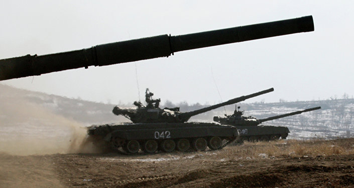 T-72 main battle tanks