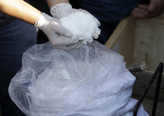 A shipment of illegal drug methamphetamine seized during a drug bust. File photo.