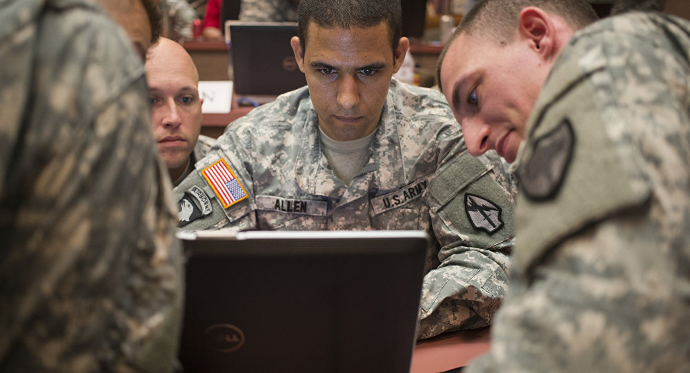 US Army National Guard Trains at Cyber City