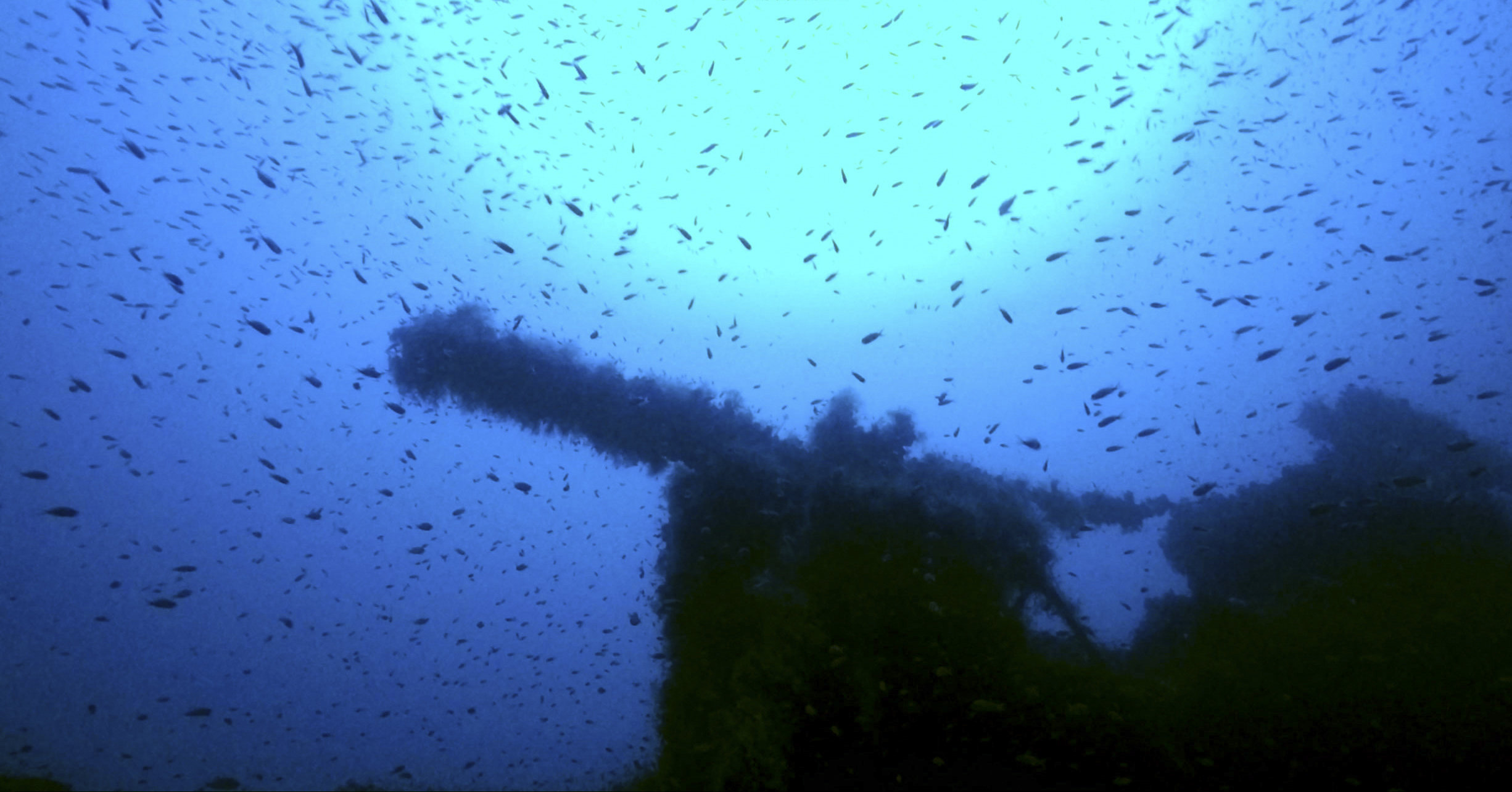 The wreckage of a British submarine that was sunk off the coast of Sardinia during World War II.