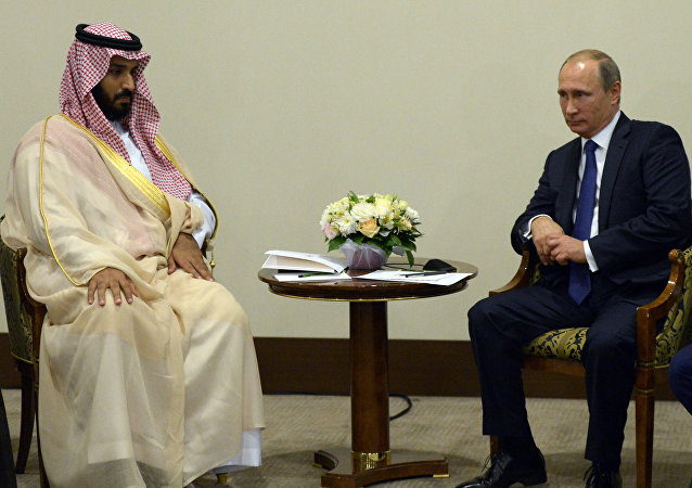 Vladimir Putin meets with Deputy Crown Prince and Defence Minister of Saudi Arabia Mohammad bin Salman Al Saud
