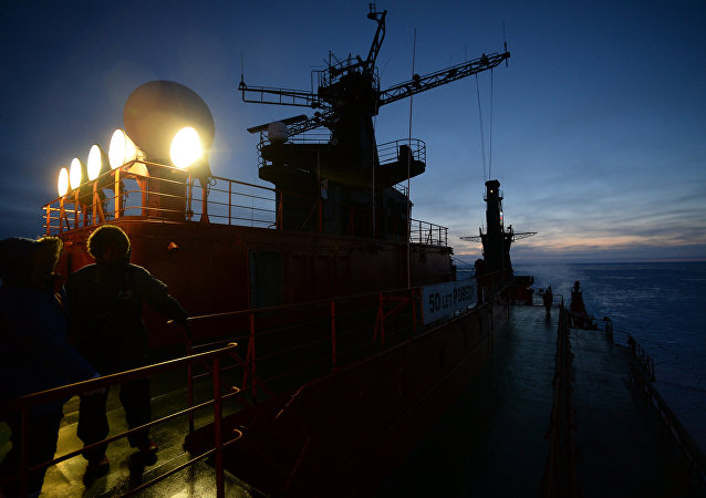 NS 50 Let Pobedy Arktika-class nuclear-powered icebreaker sails in the Arctic Ocean. (File)