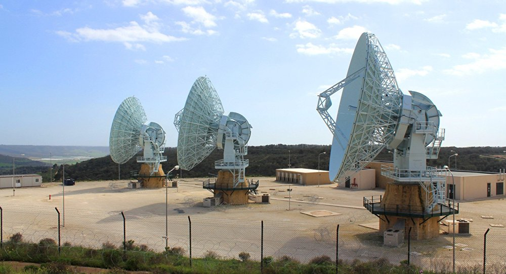 US Navy Mobile User Objective System (MUOS) Earth Terminal Facility at NRTF Niscemi, Sicily.