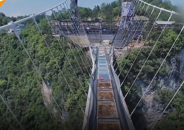 A Challenge for the Brave: World's Longest Glass Bottom Suspension Bridge