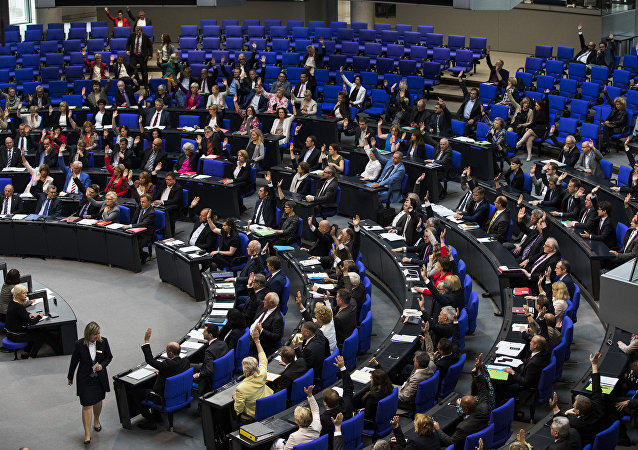 Law makers vote to recognise the Armenian genocide after a debate during the 173rd sitting of the Bundestag, the German lower house of parliament, in Berlin on June 2, 2016
