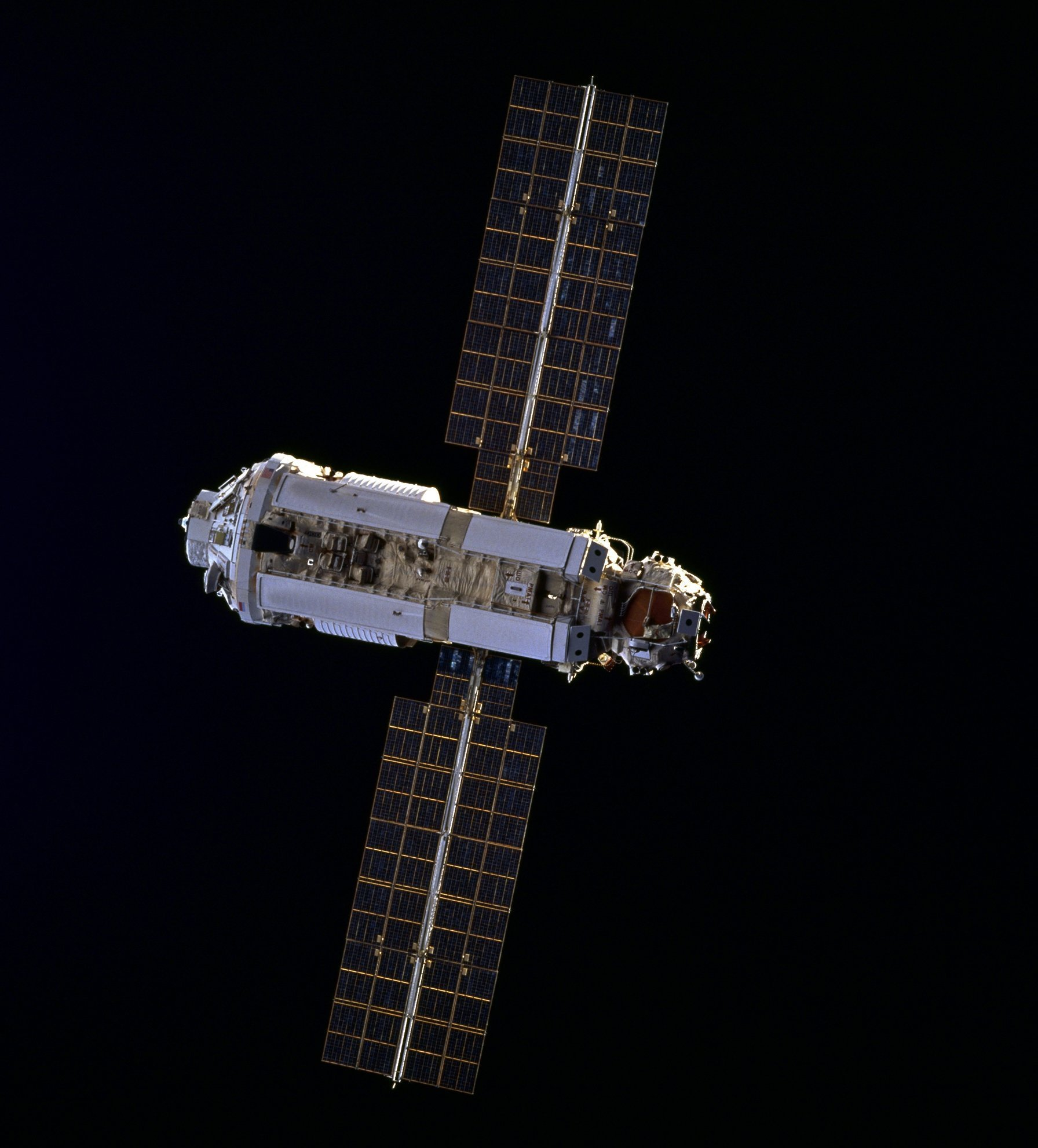 ISS Zarya module as seen from STS-88 (NASA)