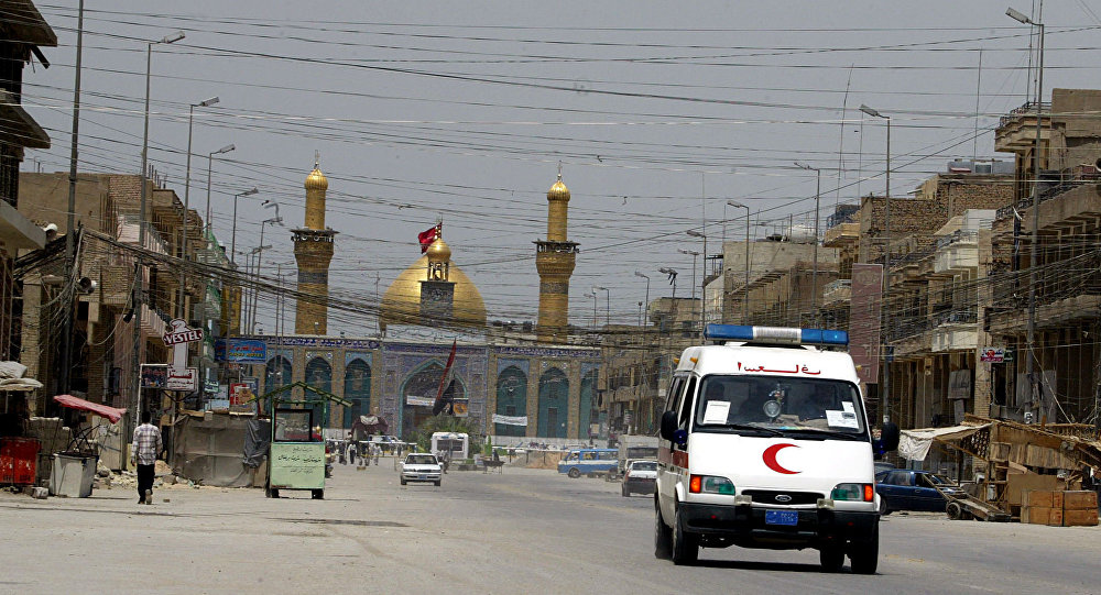 An ambulance drives in the city of Karbala, south of Baghdad. (File)