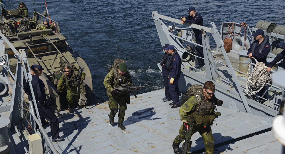 Sweden arive aboard the Polish navy ship during BALTOPS (File)