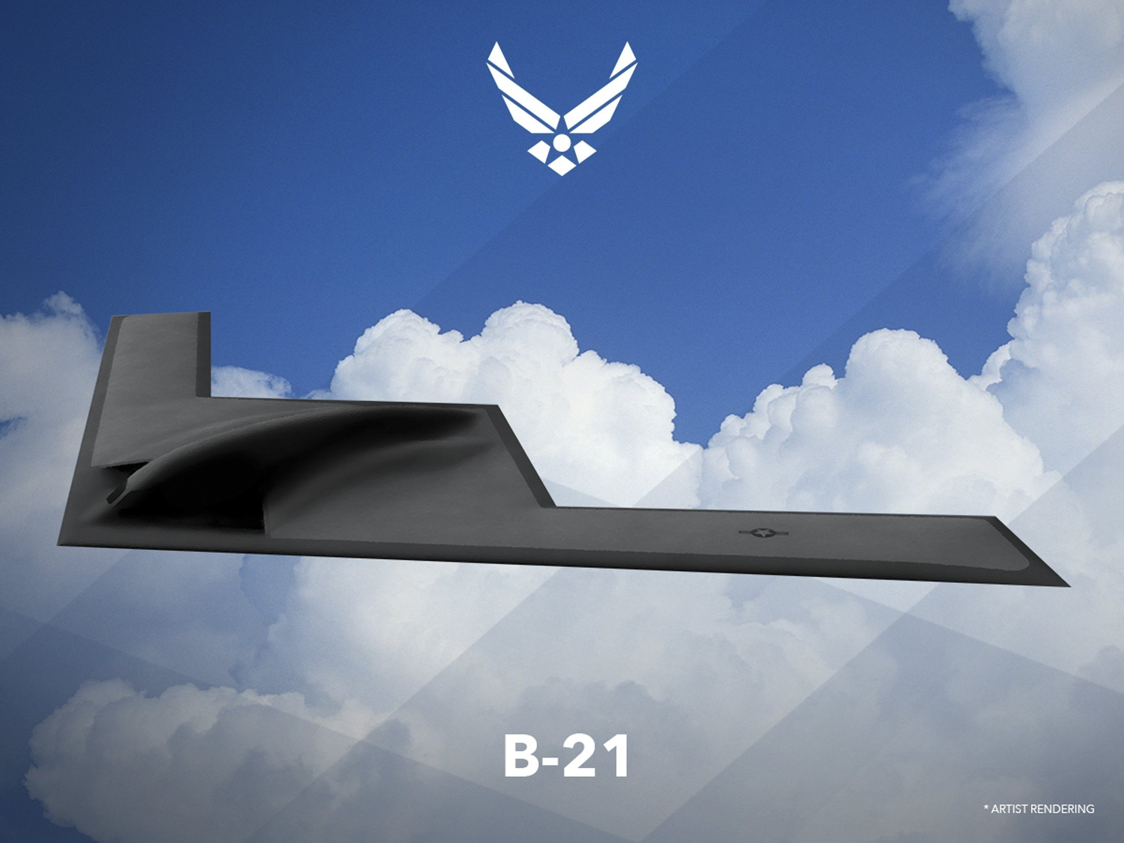An artist rendering shows the first image of a new Northrop Grumman Corp long-range bomber B21 in this image released on February 26, 2016