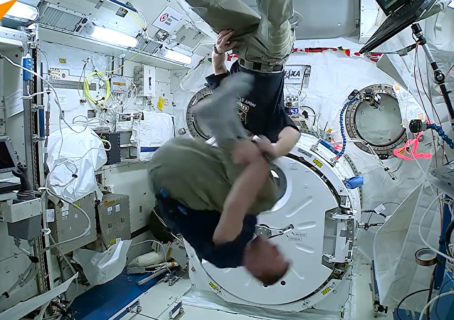 Spin Round and Round: Tim Peake Does Somersault in Space