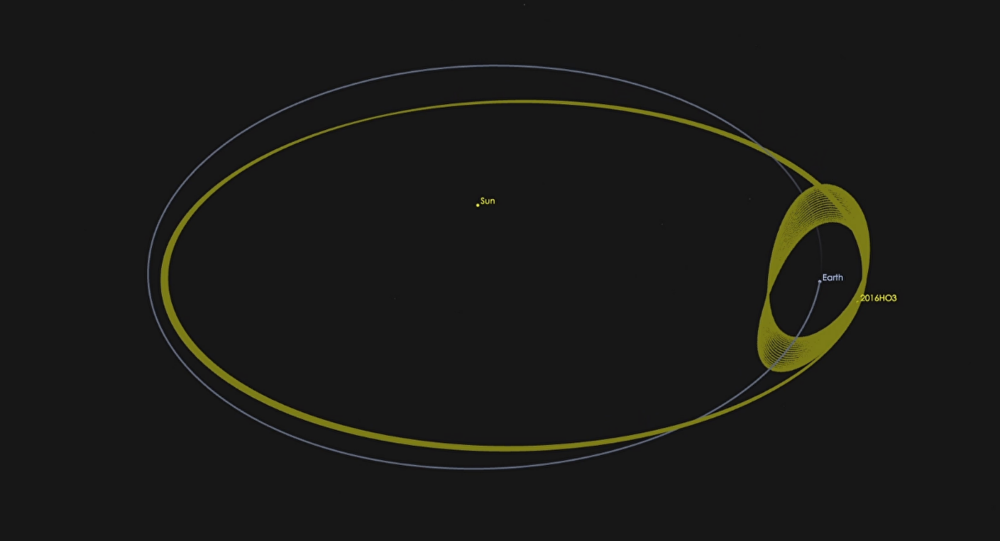 Asteroid 2016 HO3 has an orbit around the sun that keeps it as a constant companion of Earth.