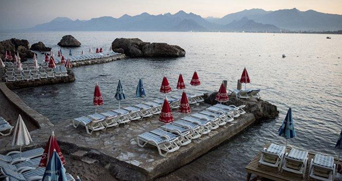 One of the beaches in Antalya, Turkey