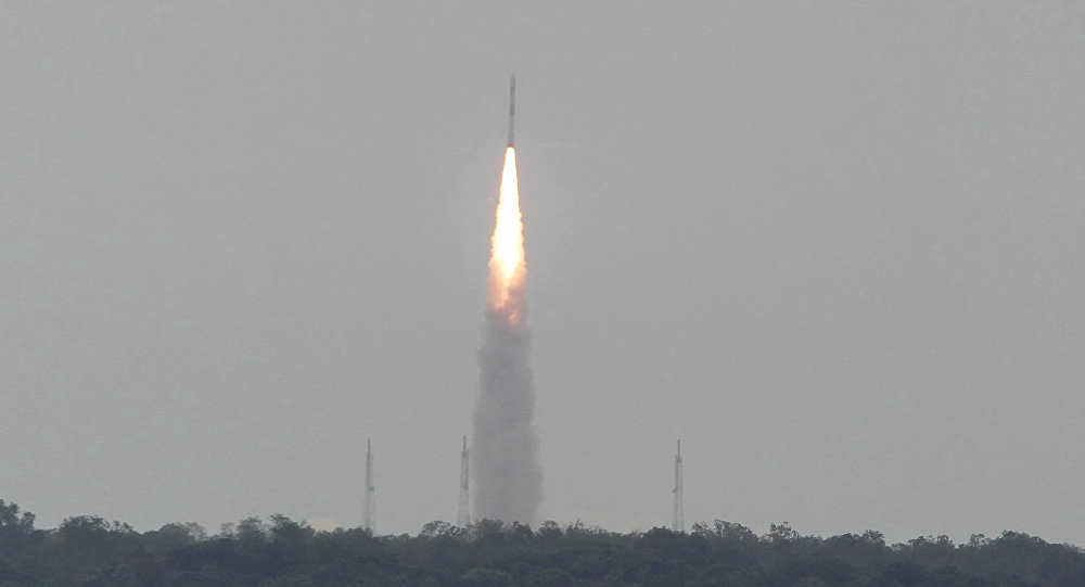 Launch of Satellite from the Satish Dhawan Space Centre (SDSC) in the Indian town of Sriharikota (file)