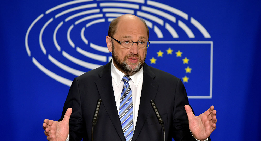 European Parliament President Martin Schulz gives a statement after the conference of Presidents at the European Parliament in Brussels, Belgium, June 24, 2016