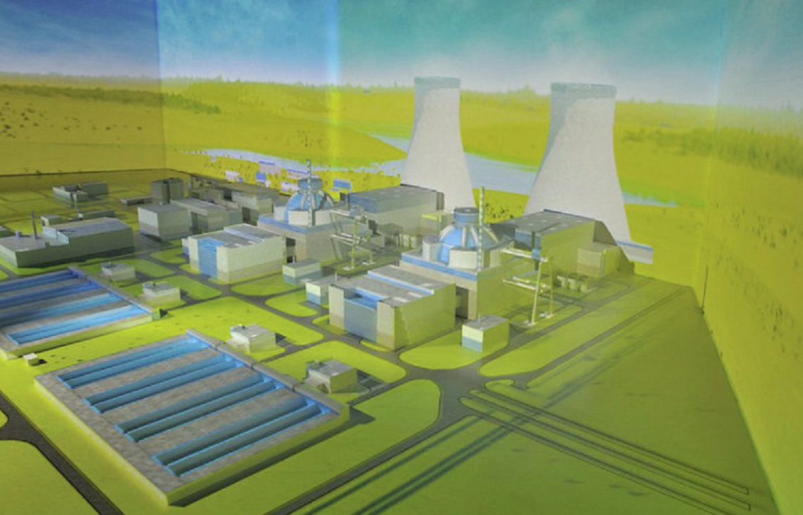 A plan of Turkey's first nuclear power plant Akkuyu