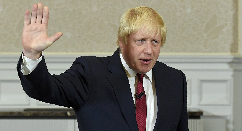 UK Foreign Secretary Boris Johnson urged Tuesday to step up the pressure against Moscow and Damascus via sanctions.