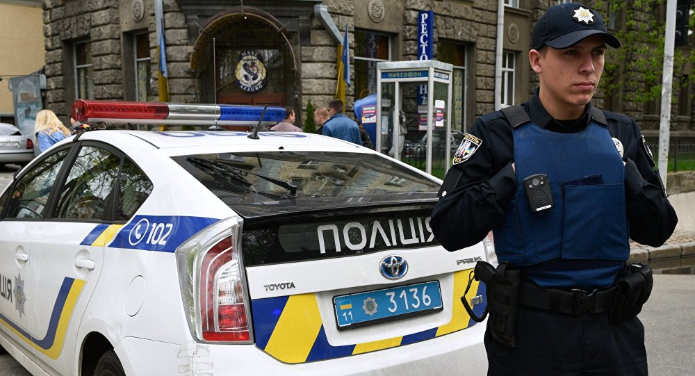 An officer of the Ukrainian police in Kiev. (File)