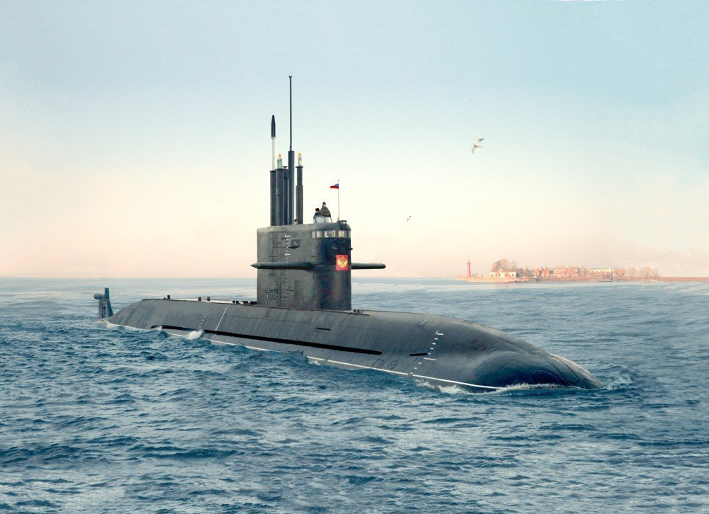 The Amur 1650 fourth-generation diesel submarine, a Lada-class vessel featuring improved acoustic stealth, improved weapons systems and an optional air-independent propulsion system.