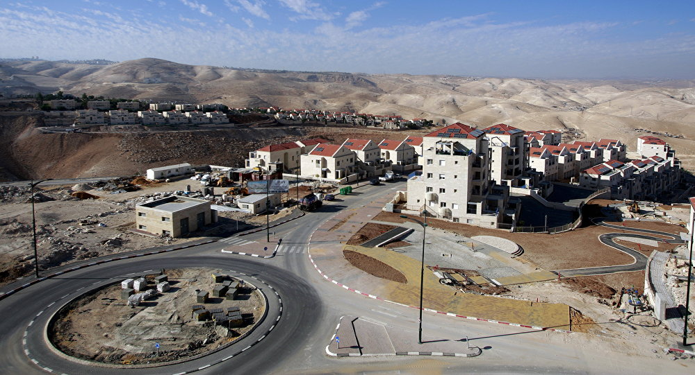 Part of the Jewish settlement of Maale Adumim, east of Jerusalem. file photo