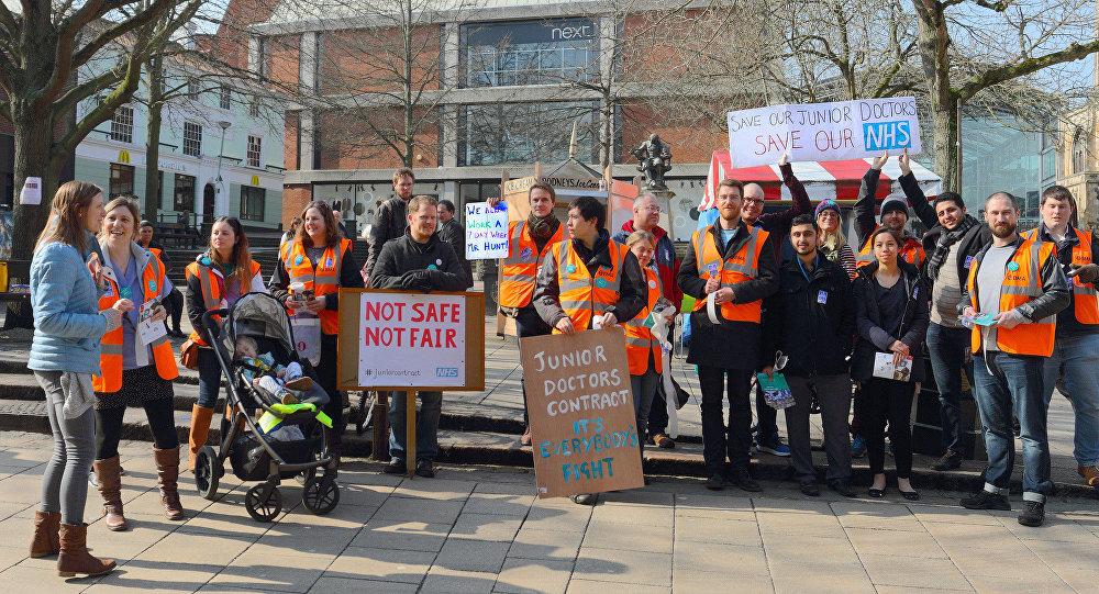 Junior Doctors campaigning at The Haymarket, Norwich