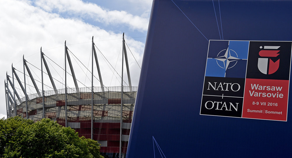 This picture shows the National Stadium in Warsaw, the venue of the NATO summit. file photo