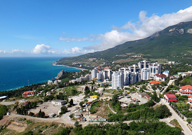 Panorama of the International Children's Center Artek in the Crimea.