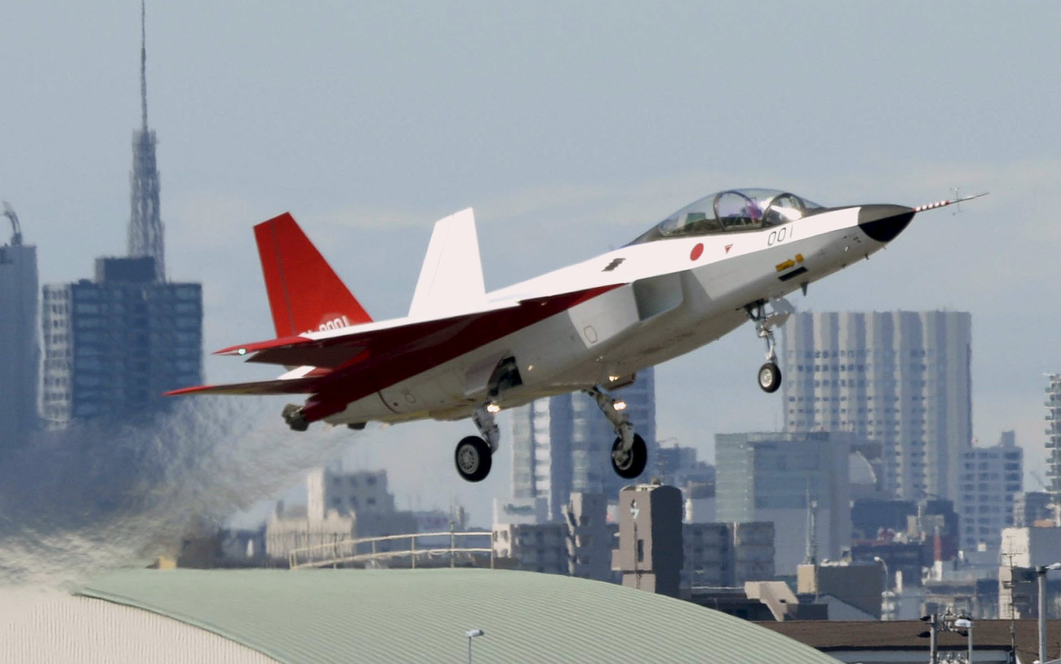 A prototype of the first Japan-made stealth fighter X-2 Shinshin, formerly called ATD-X