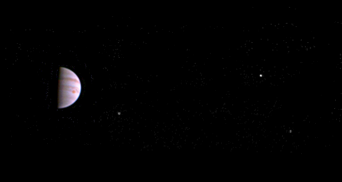 NASA's Juno Jupiter probe captured this image on July 10, 2016, less than a week after entering orbit around the giant planet.
