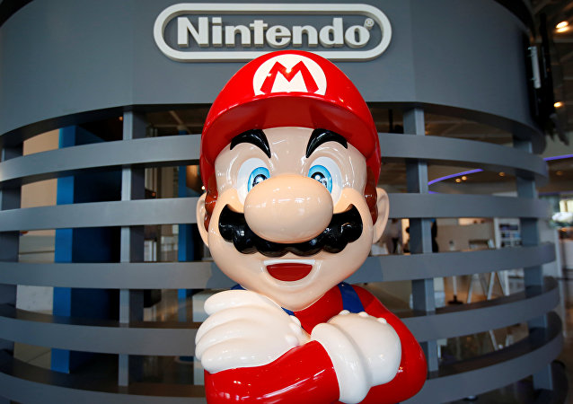 A figure depicting Mario, a character in Nintendo's Mario Bros. video games, is displayed at the company showroom in Tokyo, Japan July 14, 2016.