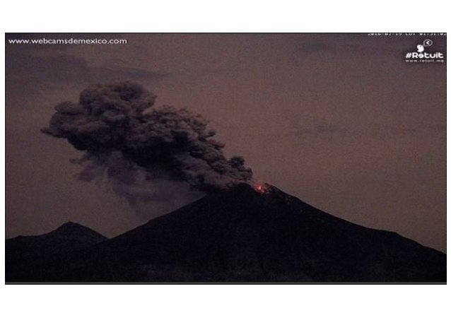Fiery Blast, Lava Spew Seen During Colima Volcano Night Eruption