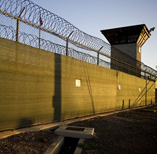 The guard tower of Camp Six detention facility of the Joint Detention Group at the US Naval Station in Guantanamo Bay, Cuba (File)