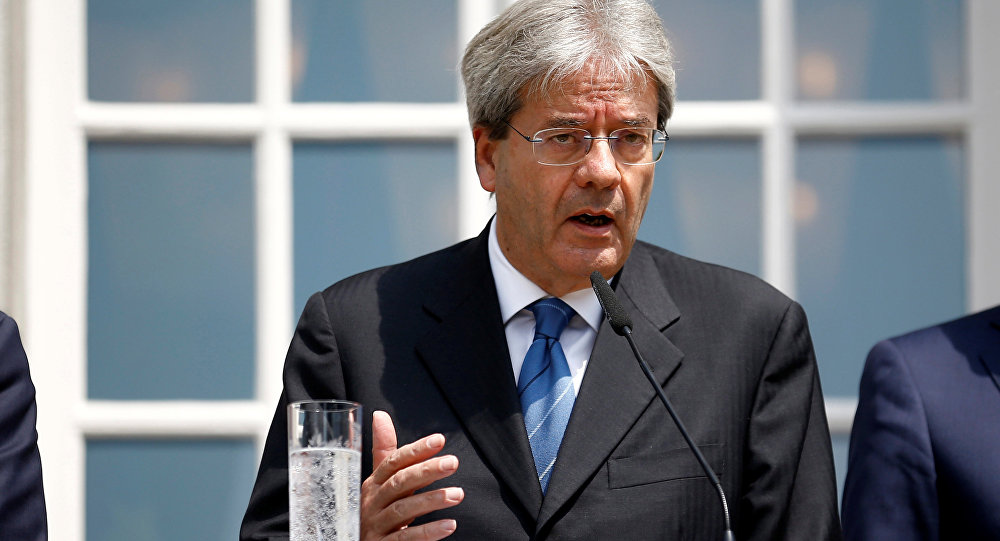 Italian Foreign Minister Paolo Gentiloni attends a press conference after a foreign minister meeting of the EU founding members in Berlin, Germany, June 25, 2016