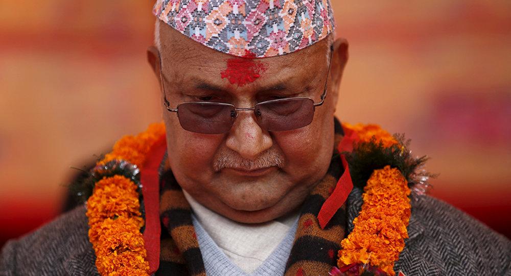 Nepal's Prime Minister Khadga Prasad Sharma Oli, also known as K.P. Oli.