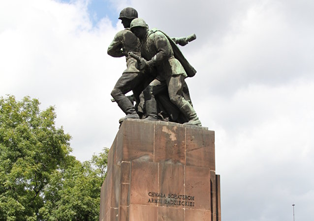 A Soviet war memorial in Poland