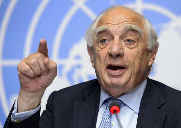 Special Representative of the UN Secretary-General for Migration and Development, Peter Sutherland (File)