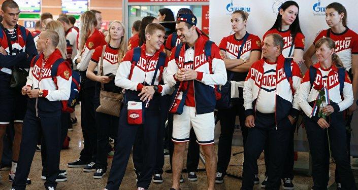 Russian Olympic team departs for Rio de Janeiro