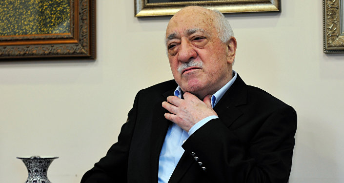Islamic cleric Fethullah Gulen speaks to members of the media at his compound, Sunday, July 17, 2016, in Saylorsburg, Pa.