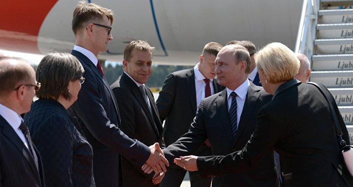 Russian President Vladimir Putin visits Slovenia