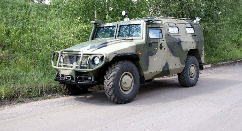 Tigr all-terrain armored vehicle