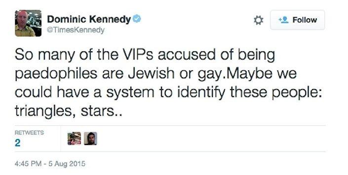 Tweet by Dominic Kennedy