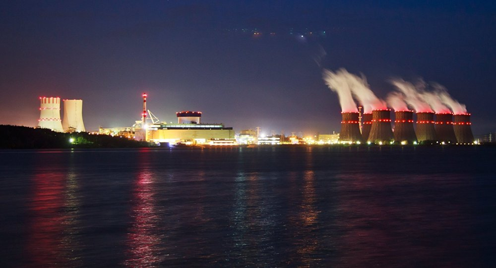 The Novovoronezh nuclear power station