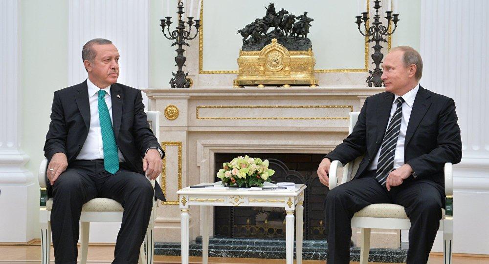 President Vladimir Putin meets with President of Turkey Recep Erdogan. File Photo.